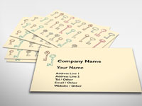 Antique Keys Business Card