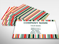 Bright Stripes Business Card