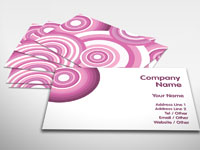 Candy Pink Business Card