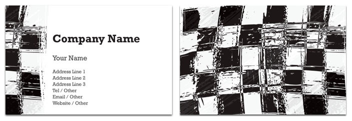 Chequered Flag Business Card