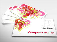 Colourful Curls Business Card