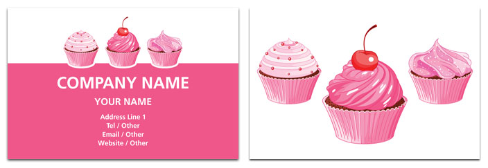 Cupcake business card catering rocket cards cupcake business card colourmoves