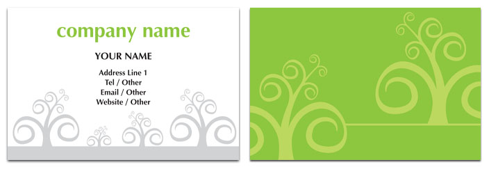 Curly Tree Business Card