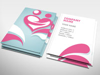 Heart business card generic rocket cards dating business card colourmoves