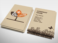 Autumn business card florist gardening rocket cards environmental business card colourmoves Images