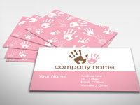 Finger Painting Business Card
