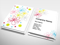 Flower Doodle Business Card