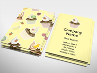 Fruity Cupcake Business Card