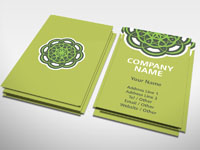 Green Ring Business Card