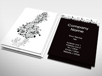 Piano business card entertainment rocket cards musical notes business card colourmoves