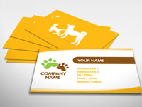 Pet sitting business cards examples selol ink pet sitting business cards examples reheart Image collections