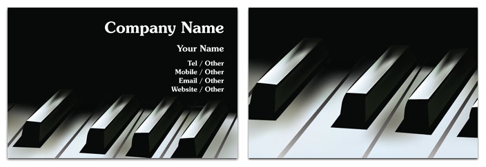 Piano business card entertainment rocket cards piano business card colourmoves