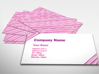 Pink Strands Business Card