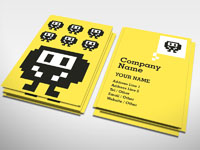 Space Invader Business Card