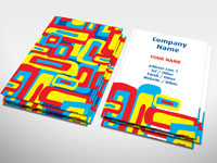 Vibrant Oblong Business Card